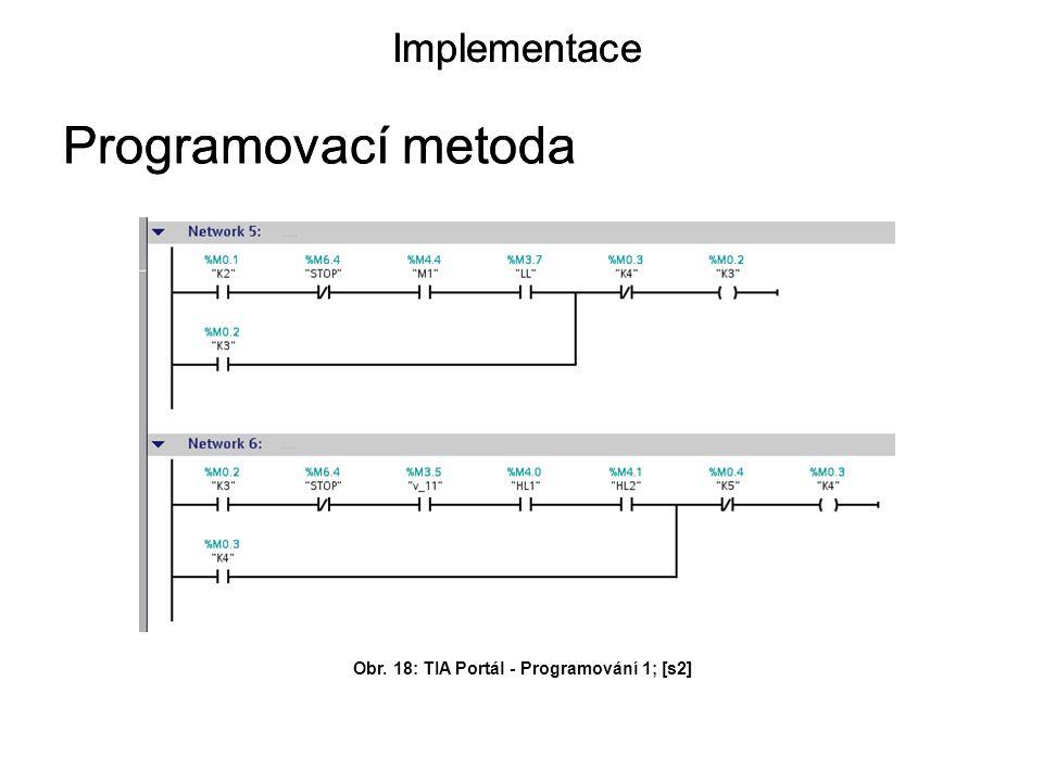 Obr. 18: TIA Portál - Programování 1; [s2]